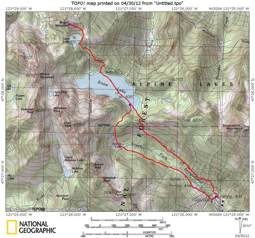 Wright Mountain Snow Scramble Route