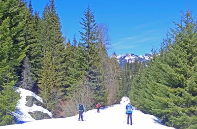 Cross-country Ski - Windy Pass from the Iron Horse Trail