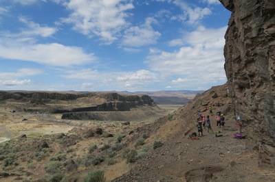 Top Rope Rock Climb - Vantage (Frenchman Coulee)