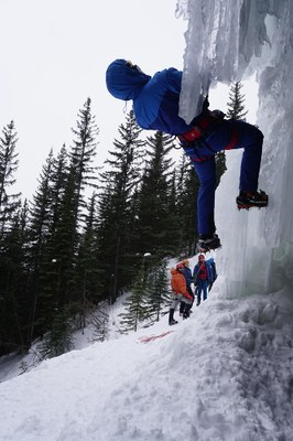Ice Climbing near Canmore