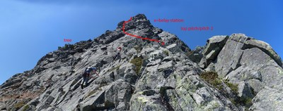 Chair Peak/NE Buttress 2nd Pitch Diagram