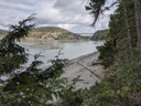 View of Deception Pass Bridge from North Beach Trail taken by Joshua Stein