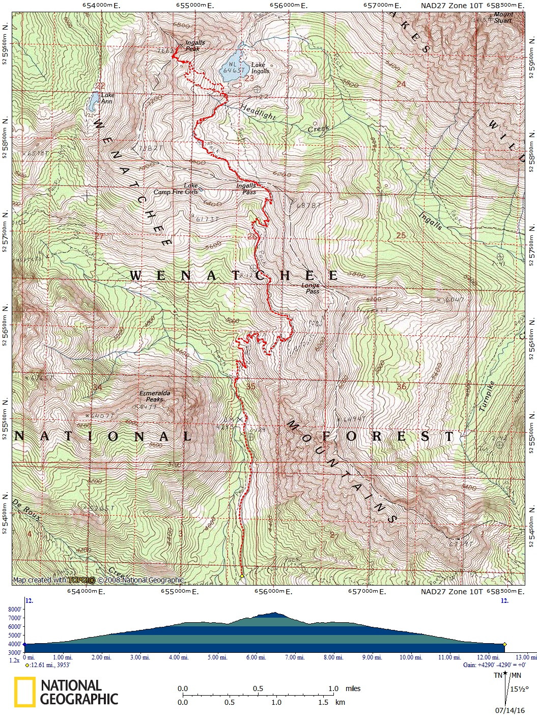 Ingalls Route Map