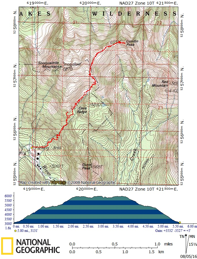 Lundin Peak Route Map