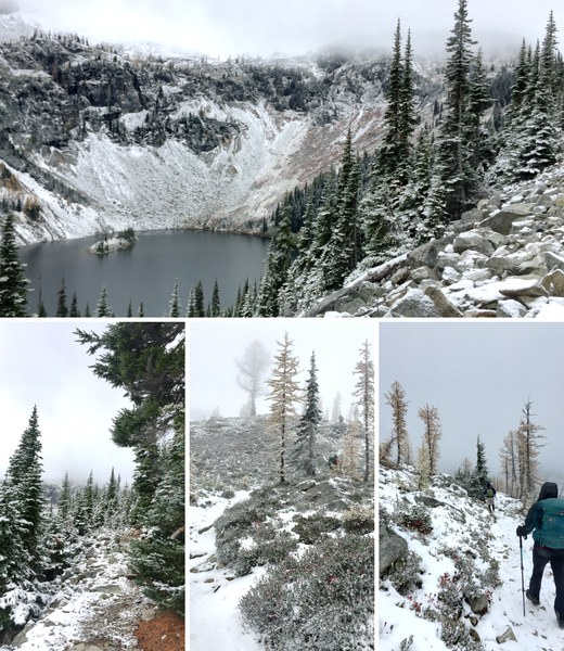 Composite of Maple Pass loop trail