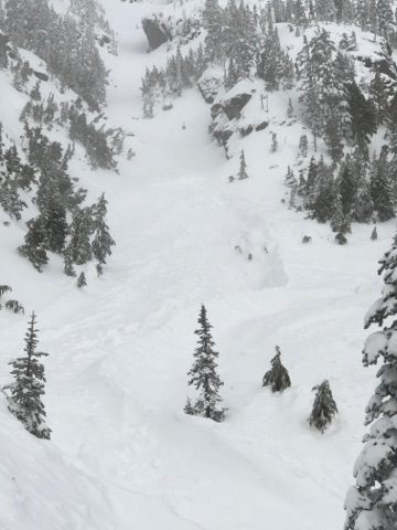 Mount Ellinor Avalanche Chute with release pic1