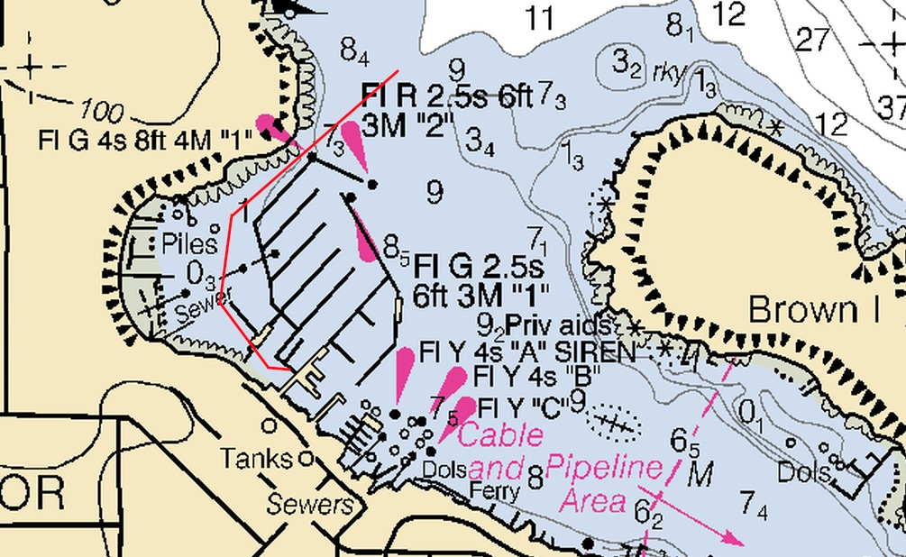 How to approach the kayak dock in Friday Harbor