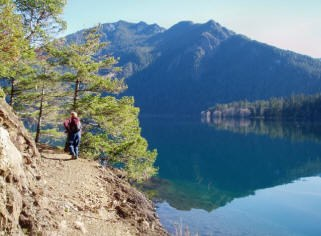 Spruce Railroad with Lake Crescent