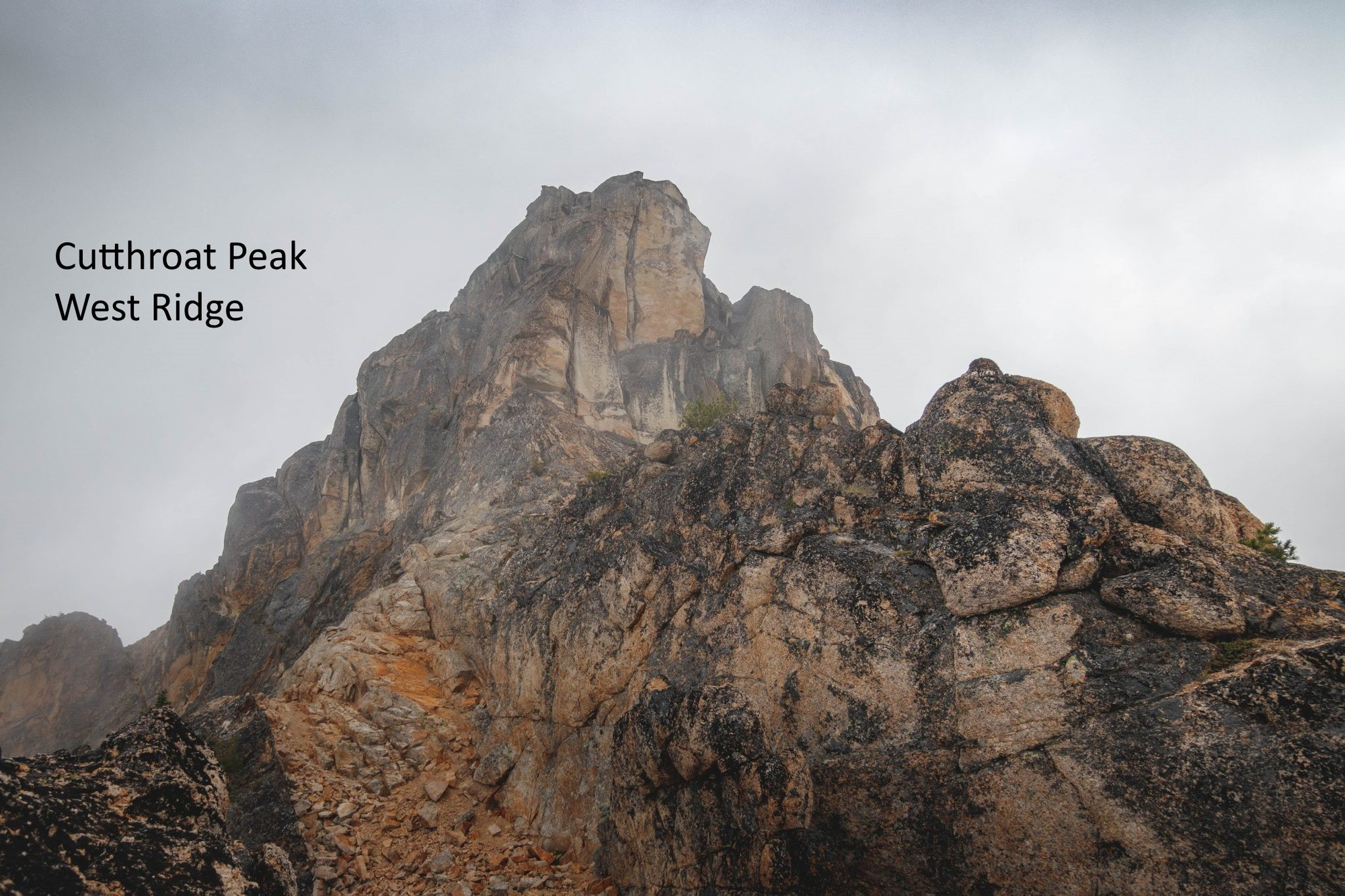 Cutthroat Peak: Hit By A Large Rock At High Velocity