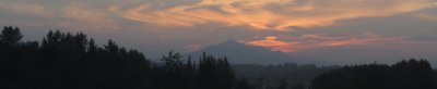 A great morning for an airlift – smoky sunrise over Pilchuck