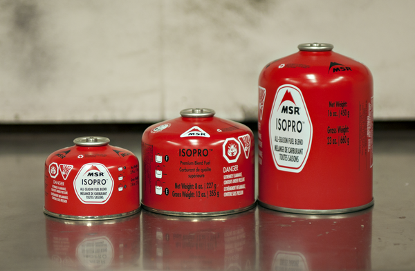 Isopro-style fuel canisters