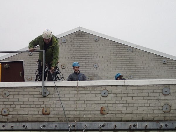 Corey at MPC with MAC, maintenance on north wall for aid class, december '18 (2).JPG