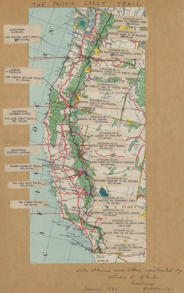 Early Clarke map of Pacific Crest Trail.jpg