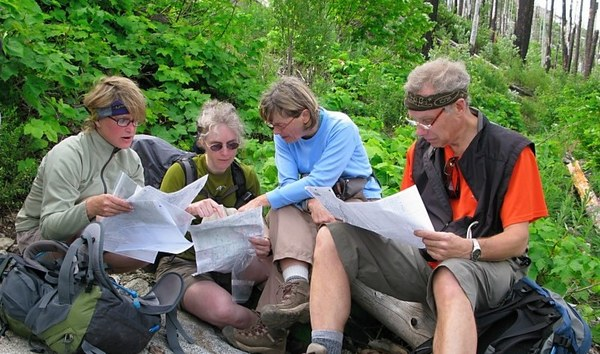 Hikers checking their maps on-route.  2.jpg