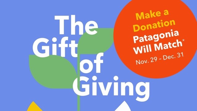 Patagonia turns your $1 donation into $2 for The Mountaineers