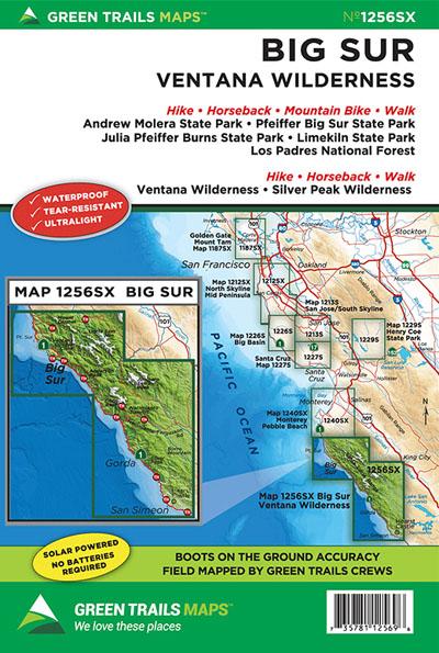 Big Sur Ventana Wilderness, CA No. 1256SX: Green Trails Maps ...
