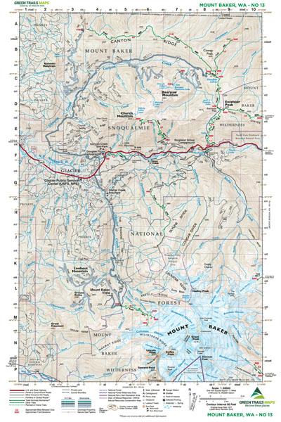 Mount Baker, WA No. 13: Green Trails Maps — Books