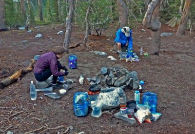 Lightweight Backpack Food Planning and Preparation
