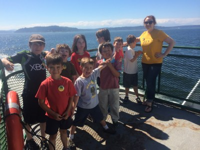 Seattle Transportation - Kitsap Forest Adventure Camp Week 1 - 2016