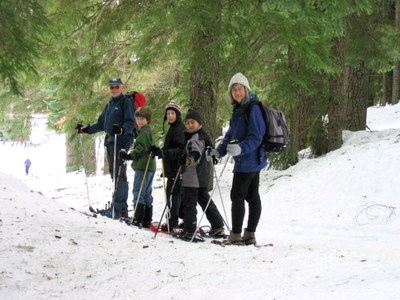 "Snowshoe Trek and Lunch -""L"" Meany Lodge -  Outdoor Centers - 2015"
