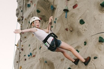 Family Rock Climbing - Evergreen State College
