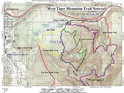 Conditioning Hikes (one required, multiple are optional) - West Tiger Mountain No. 3