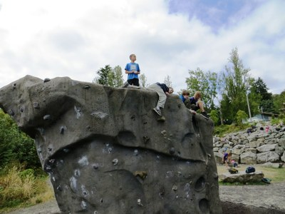 The Boulder - popular with Summer Camp Youth