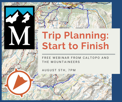 CalTopo Trip Planning: Start to Finish | Free Zoom Webinar From CalTopo and the Mountaineers - Online Classroom