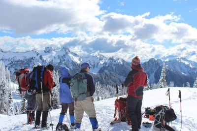 Backcountry Snowshoeing - Tacoma 2016