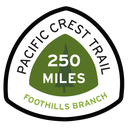 Foothills Branch Pacific Crest Trail 250 Miles