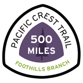 Foothills Branch Pacific Crest Trail 500 Miles