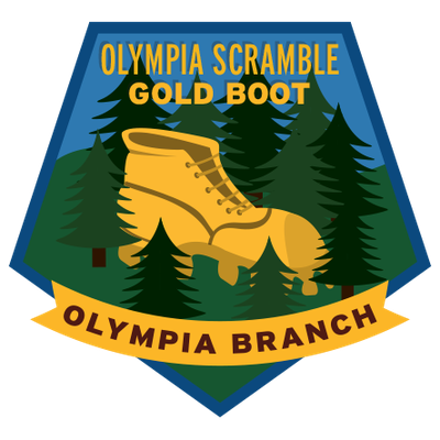 Olympia Branch Scramble Peaks Gold (pentagon)
