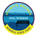 Olympia Branch Paul Wiseman Memorial Bench Peaks