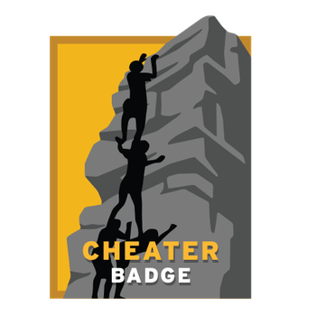 Cheater Badge - Getting Vertical