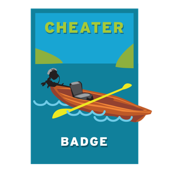 Cheater Badge - Getting Wet