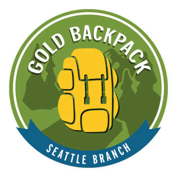Seattle Branch Gold Backpack