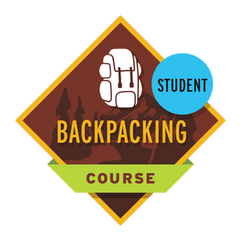 Backpacking Course Student