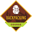 This badge represents successful completion of our Backpacking Course, which enables you to safely enjoy overnight trips into the backcountry.