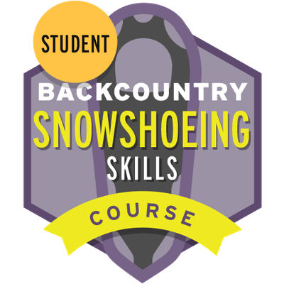 Backcountry Snowshoeing Skills Course Student