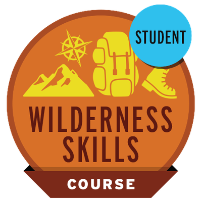 Wilderness Skills Course Student