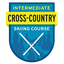 This badge represents successful completion of the Intermediate Cross-country Skiing Course.