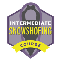 This badge represents successful completion of the Intermediate Snowshoeing Course.