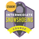 Intermediate Snowshoeing Course Student