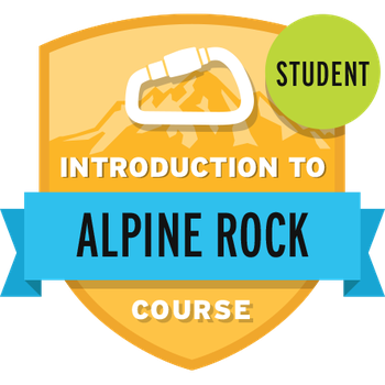 Introduction to Alpine Rock Course Student