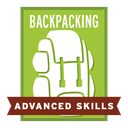 The recipient of this badge has acquired advanced backpacking skills through trip experience, including navigation and first aid.