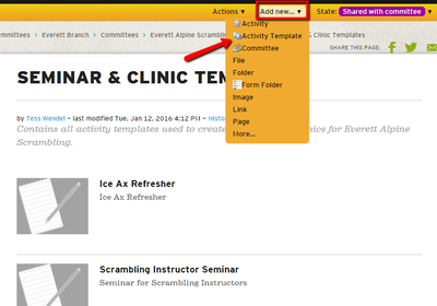 Schedule a course clinic or seminar The Mountaineers – Seminar Schedule Template